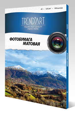 Фотобумага TrendArt Matte Coated Inkjet MC120_A3_100