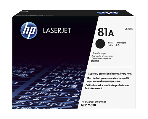 Картридж HP 81A LaserJet Enterprise mfp M630 black
