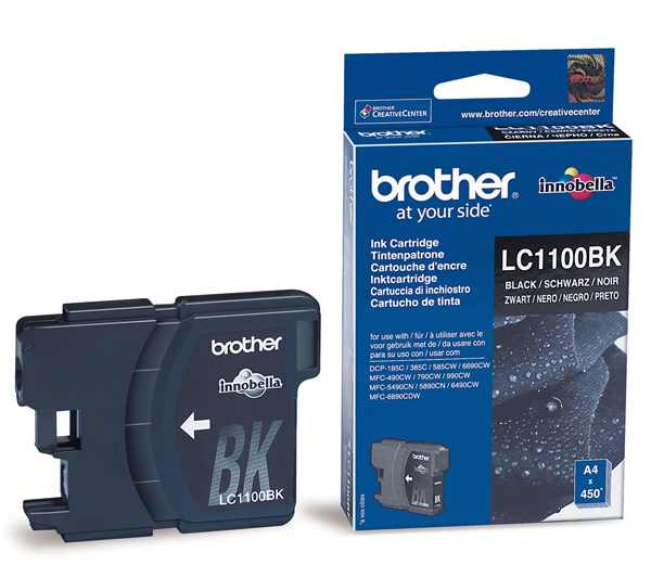 Картридж Brother LC1100BK DCP-385C, DCP-6690CW, MFC-990CW Black